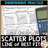 Scatter Plots and Line of Best Fit Practice Worksheet