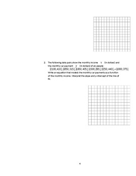 Scatter Plot and Lines of Fit