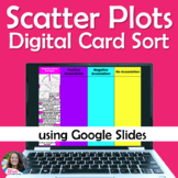 Scatter Plots Associations Digital Card Sort Distance Learning