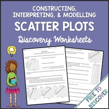 Scatter Plots Discovery Worksheets