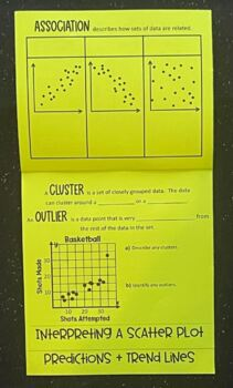 Scatter Plots (Foldable)