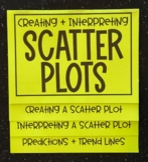 Scatter Plots (Foldable)