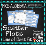 Scatter Plots - Line of Best Fit - GOOGLE Slides