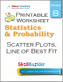Scatter plots and line of best fit teaching resources teachers pay line of best fit printable worksheet grade 8 fandeluxe Image collections