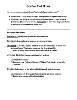 Scatter Plots Notes