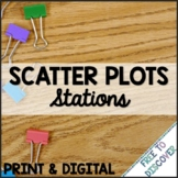 Scatter Plots Print and Digital Stations   Distance Learning