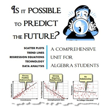Scatter Plots, Trend Lines, Regression Equations and Data Analysis
