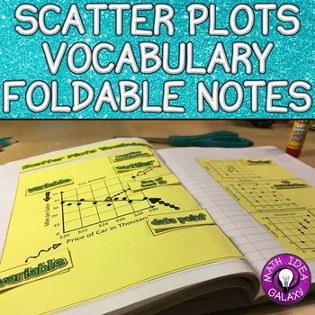 Scatter Plots Foldable for 8th Grade Math Interactive Notebook