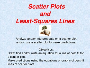 Scatter Plots and Least Square Lines