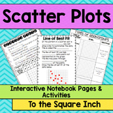 Scatter Plots and Line of Best Fit Interactive Notebook