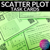 Scatter Plots and Line of Best Fit Task Cards with QR Codes