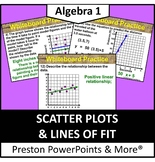 (Alg 1) Scatter Plots and Lines of Fit in a PowerPoint Presentation