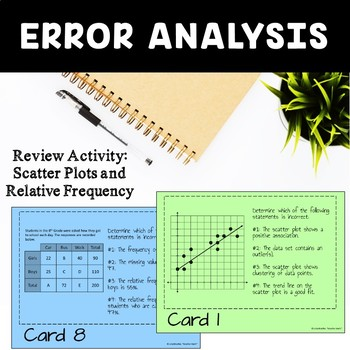 Scatter Plots and Relative Frequency Review Activity
