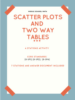 Scatter Plots and Two-Way Tables Stations