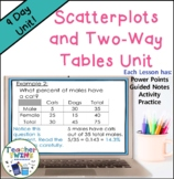Scatter Plots and Two Way Tables Unit