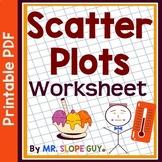 Scatter Plots PDF Worksheet Scatterplots Statistics