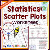 Scatter Plots PDF Worksheet Scatterplots Statistics