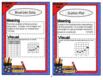 Scatter plots:  Bivariate Data