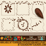 Scattered Seeds Borders Dividers Clip Art