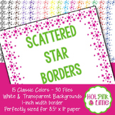Scattered Stars Border in 15 Colors by Hot Pink Lime