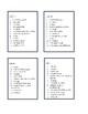 Scattergories (8 listes pour le jeu)