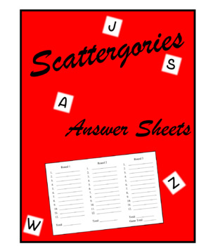 image about Scattergories Answer Sheets Printable known as Scattergories Remedy Sheets Worksheets Instruction Products