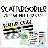 Scattergories: Virtual Meeting Game  |  Distance Learning