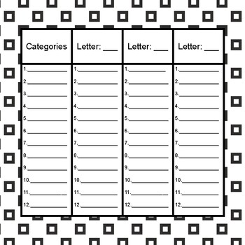 Scattergories: For Students By Students