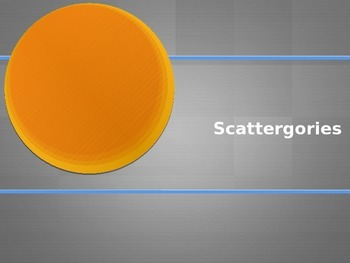 Scattergories- French Game