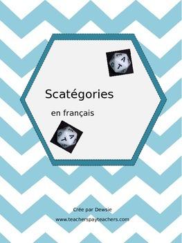 Scattergories (French) - Scatégories