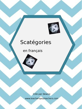 Scattergories (French) - Scatégories