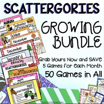 Scattergories GROWING BUNDLE!
