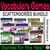 Scattergories BUNDLE!   Vocabulary Growth & Community Building Game!