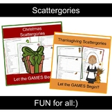 Scattergories Game BUNDLE