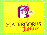 Scattergories Jr. Modified Game {editable}