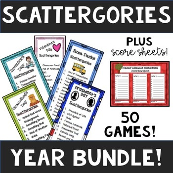 Scattergories YEAR LONG Bundle