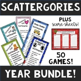 Scattergories YEAR LONG Bundle