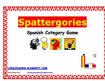 Spattergories! Spanish Categories Game