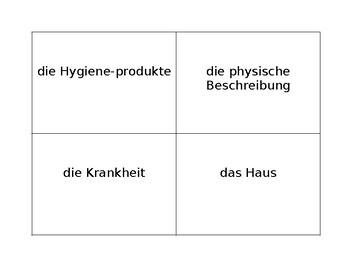 Scattergories in German