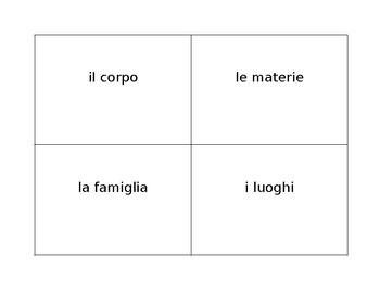 Scattergories in Italian