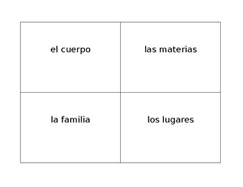 Scattergories in Spanish