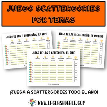 VOCABULARIO: EL JUEGO DE LAS CATEGORÍAS (38 PLANTILLAS)