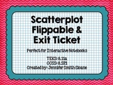 Scatterplot Flippable (foldable) and Exit Ticket - Interactive Notebook Lesson