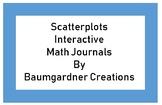 Scatterplot Interactive Math Journal