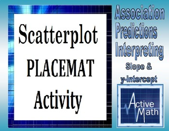 Scatterplot Placemat Activity