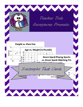 Scatterplot Task Cards