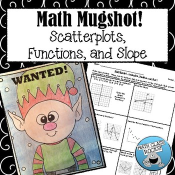 """SCATTERPLOTS, FUNCTIONS, AND SLOPE - """"MATH MUGSHOT"""""""