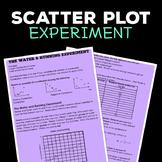 Scatter Plot Experiment Task, Activity Worksheet