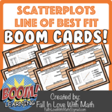 Scatterplots and Line of Best Fit Boom Cards!