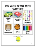 Scavenger Hunt: 101 Ways to Use Math Every Day